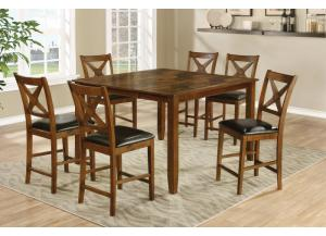D65230 Counter Height Table, 4 Stools,Jerusalem Furniture