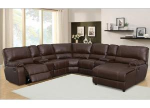 7 Pc Reclining Sectional,LifeStyle