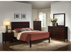 B5125 Queen Bed, Dresser, Mirror, Chest, 1 Night Stand